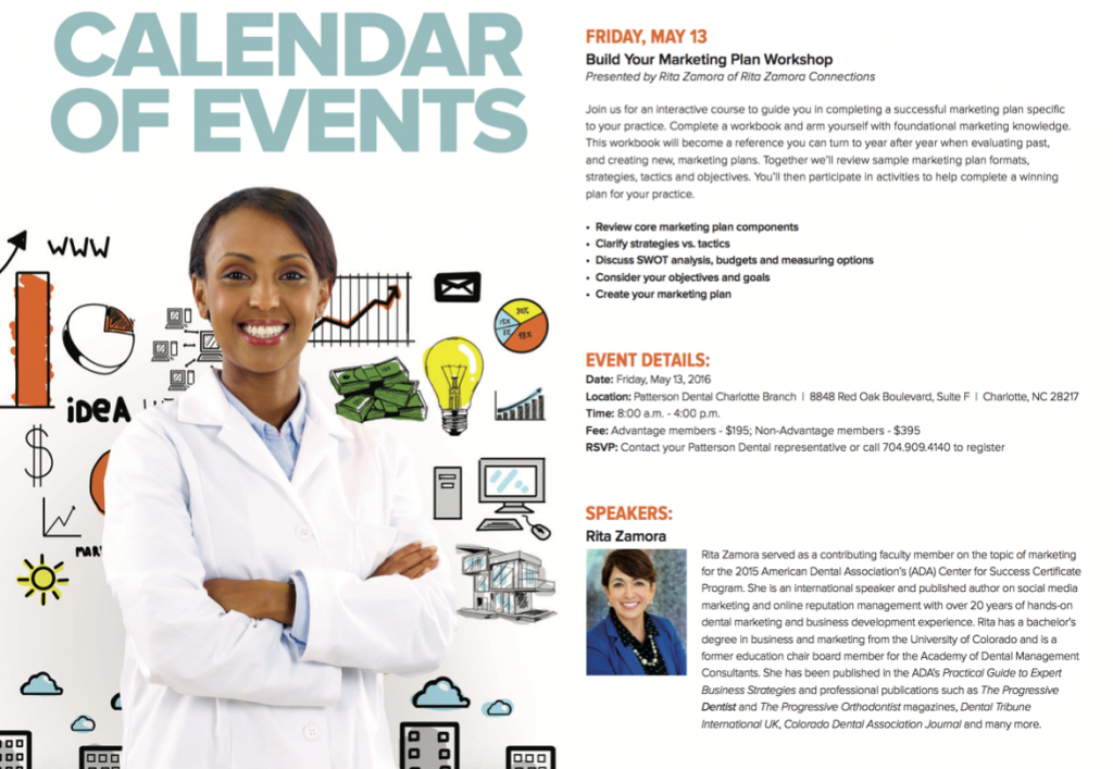 Build Your Marketing Plan Workshop – Patterson Dental Charlotte, NC