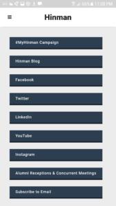 Hinman Social Media Channels